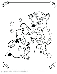 Paw Patrol Printable Colouring Pages Tracker Coloring Rubble Page