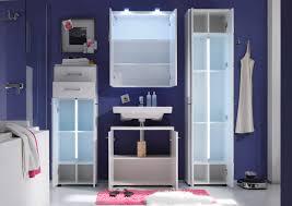 badezimmer hochschrank nightlife hochglanz weiß tiefgezogen inkl led beleuchtung