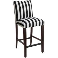 Canopy Stripe Black And White Uptown Bar Stool 63-8CNPBLC - The Home ...