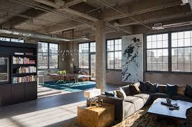 Industrial Loft Style Furniture Set Ideas Furnished With Bookshelf Cabinet And Sofa Plus Rustic Coffee Table Dining On The Corner Near