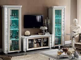 luxus plasma tv wohnwand wohnzimmer vitrine miro klassische stilmöbel italien