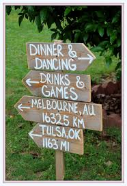 Rustic Wedding Signs Reclaimed Wood Directional Arrow Wooden Sign Reception