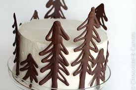 Make your own chocolate cake toppers using melted chocolate