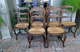 Antique French Tall Dining Chairs Ladder Back Rush Seat Carved ... Guy Chaddock Melrose Custom Handmade Fniture Cf0485s Country French Ding Chairs With Ladder Back And Rush Seats Antique Farm Carved Tall Seat Room Set Of 6 Provincial In Walnut 10 Louis Xv Style Oak Leather Nailhead Recliner Chair Vintage White Of Four Six Xiv Ladderback Scalloped Stretchers Inspire Q Eleanor Wood 2 By Dec 16 2018