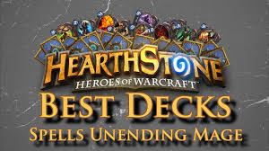hearthstone deck list mech mage best hearthstone deck 100 win rate spells unending mage
