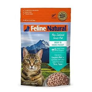 K9 Feline Natural Freeze Dried Beef and Hoki Feast Cat Food - 320g