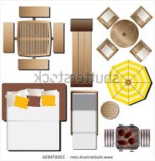 Large Patio Umbrella Cozy Outdoor Furniture Top View Set 15 Stock Vector 336876656