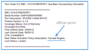 Check iPhone network carrier locked or unlocked blacklist by IMEI
