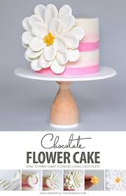 White Chocolate Flower Cake