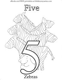 Number 5 Coloring Page PDF