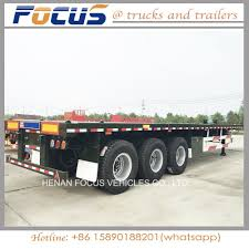 100 20 Ft Truck China Skeleton Frame Chassis Semi Trailer For FT 40FT