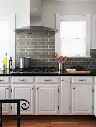 white cabinet gray subway tile search kitchen