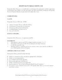 Sample Resumes For Hospitality Industry Resume Skills List Inspirational