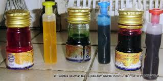 colorants alimentaires mélange de couleurs