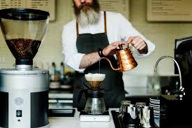 Coffee Cafe Barista Apron Uniform Brew