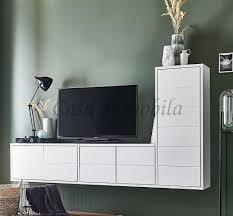 hänge lowboard 220x121x33cm contra kiefer weiß lackiert casade mobila