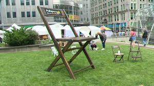 A Twist On A Pittsburgh Tradition: 8-foot-tall Parking Chair Popping ... Chair Rentals Los Angeles 009 Adirondack Chairs Planss Plan Tinypetion 10 Best Deck Chairs The Ipdent Costway Set Of 4 Solid Wood Folding Slatted Seat Wedding Patio Garden Fniture Amazoncom Caravan Sports Suspension Beige 016 Plans Templates Template Workbench Diy Garage Storage Work Bench Table With Shelf Organizer How To Make A Kids Bench Planreading Chair Plantoddler Planwood Planpdf Project