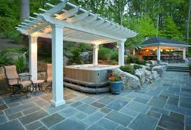 8 Ways To Beautifully Integrate An Outdoor Hot Tub Garden Design With Deck Ideas Remodels Uamp Backyards Excellent Houzz Backyard Landscaping Appealing Patio Simple Brilliant Pool Designs For Small Best Decor On Tropical Landscape Splendid 17 About Concrete Remodel 98 11 Solutions Your The Ipirations