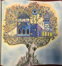 Coloring Johanna Basford Tree House Enchanted Forest