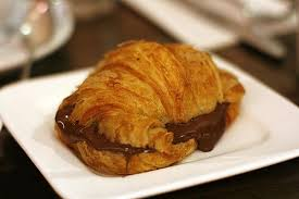 Chocolate Croissant Delicious Food French Mmm Nutella Pastry Sauce