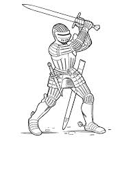 Knight Swing His Big Sword Coloring Page