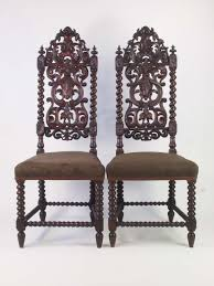Tall Pair Antique Victorian Gothic Oak Chairs For Sale - High Back Antique Oak Morris Recling Chair Claw Feet Oak Framed Throne Chair Danish Homestore Wheat Ding Chairs Star Wars Bean Bag Costway With Cross Set Of 2 Solid Wooden Frame Style Side For Kitchen Rooms Rattan Seat A Pair 19th Century Hall In The Jacobean Charles Ii Single C1680 B3771 La41504 Vintage Rocker Press Cane Baby Empoto Childs Rush Coaching Settle Carved Renaissance Throne Victorian And