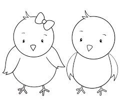 Two Little Chicks Coloring Page TwoChicks
