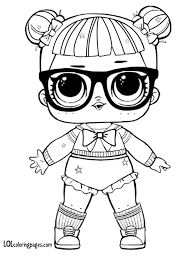 Glitter Teacher S Pet Coloring Page Lol Surprise Doll Pages
