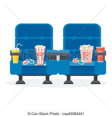 Two Blue Chairs Vector
