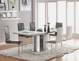 Dining Room Chair Table With White Leather Chairs Black