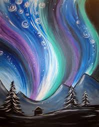 January Kids & Teen Workshops Northern Lights Painting ages 5