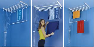pour etendre le linge etendoir à linge de plafond 5 barres 1m80 etend mieux capacité