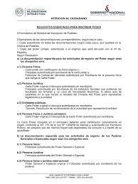 Requisitos Inscripcion De Poder 2