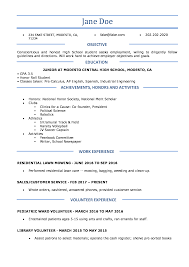 100 Example Of High School Resume S For Student