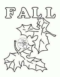 Download Coloring Pages Kindergarten Fall Leaves