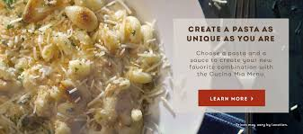 Create A Pasta As Unique As You Are With The Olive Garden Cucina