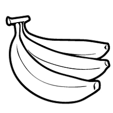 Three Bananas Two Spots On It Coloring Pages