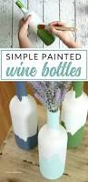 Decorative Wine Bottles Diy by Painted Decorative Wine Bottles The Perfect Wine Night Upcycle