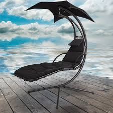 Outsunny Patio Furniture Instructions by Black Dream Chair Garden Hammock Canopy Swing Sun Lounger Sun Seat