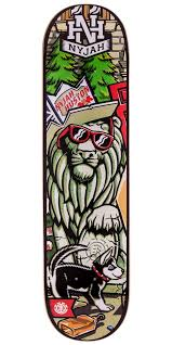 nyjah party left skateboard deck 7 75