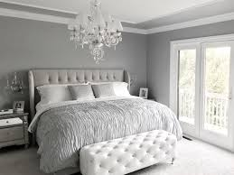 Stunning Glamorous Grey Bedroom Decor Tufted Headboard In