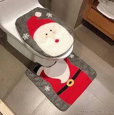 frohe weihnachten wc sitz teppich badezimmer deko