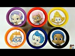 Bubble Guppies Cake Toppers by Learn Colors With Nick Jr Bubble Guppies Play Doh Toy Surprises