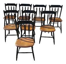 Hitchcock Arrow Back Stenciled Chairs - Set Of 8 On Chairish ...