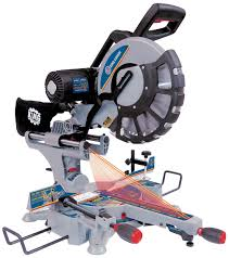 king canada 12 u201d dual sliding compound miter saw with twin laser