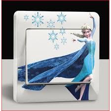 chambre la reine des neiges petit sticker interrupteur chambre disney elsa reine des neiges