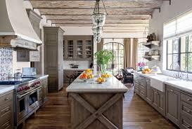 kitchen exquisite textured wood floor added classic lighting