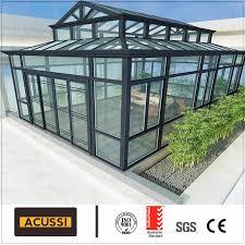 100 Glass House Project China Aluminum Green Sunroom Roof Aluminium