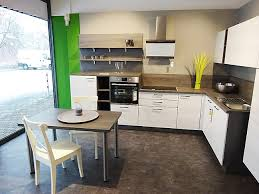 express küchen musterküche express l block eiche weiß grau