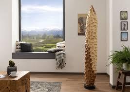 dekosäule skulptur suar 30x30x150 natur lackiert unika 176